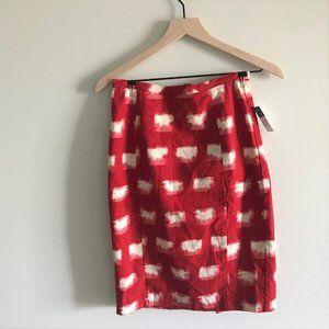 Anthropologie Corey Lynn Calter Red Pencil Skirt